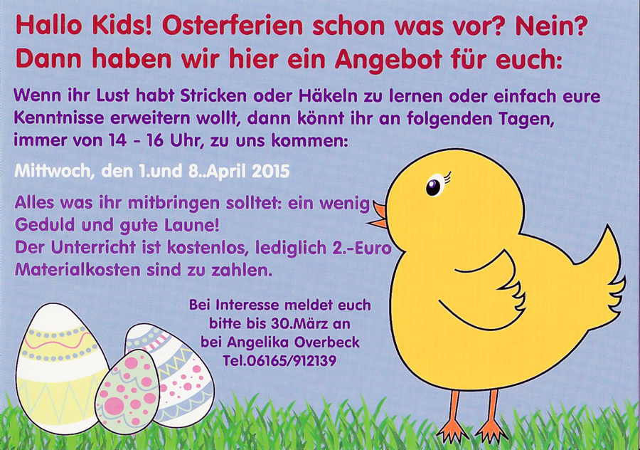 alles tolle aus wolle osteraktion 2015