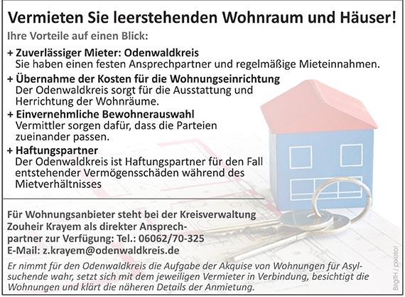 Vermieten Sie leerstenden Wohnraum und Häuser